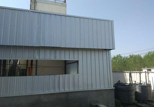 精钢覆膜瓦客户案例之启东亚太化工厂有限公司